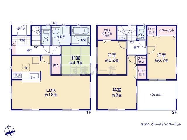 クレイドルガーデン 金沢市大額 第2の見取り図