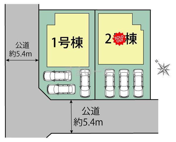ブルーミングガーデン 堺市堺区八幡通2丁2棟の見取り図
