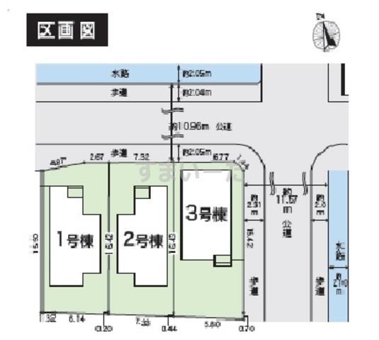 グラファーレ 岡山市南輝2期3棟の見取り図