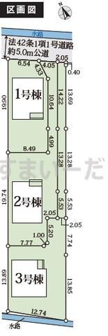 グラファーレ 岡山市川張3棟の見取り図