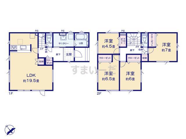 グラファーレ 札幌市八軒12期4棟の見取り図