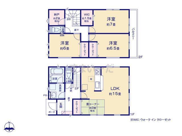 クレイドルガーデン 名古屋市名東区香流 第4の見取り図