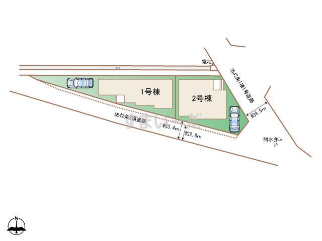 ハートフルタウン 相模原市中央区水郷田名2丁目524番の見取り図