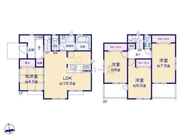グラファーレ 横浜市元大橋2棟の見取り図