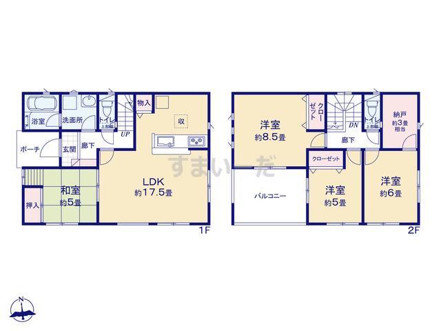 クレイドルガーデン 浜松市北区神宮寺町 第3-II期の見取り図