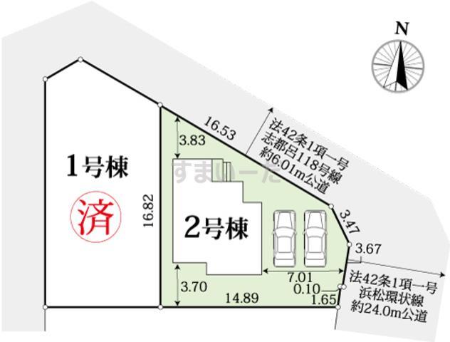 グラファーレ 浜松市志都呂2期2棟の見取り図