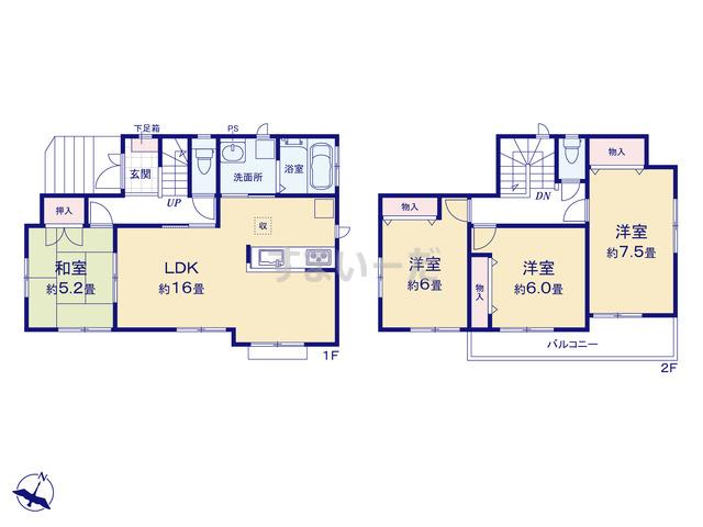 ハートフルタウン 神戸垂水区神和台の見取り図