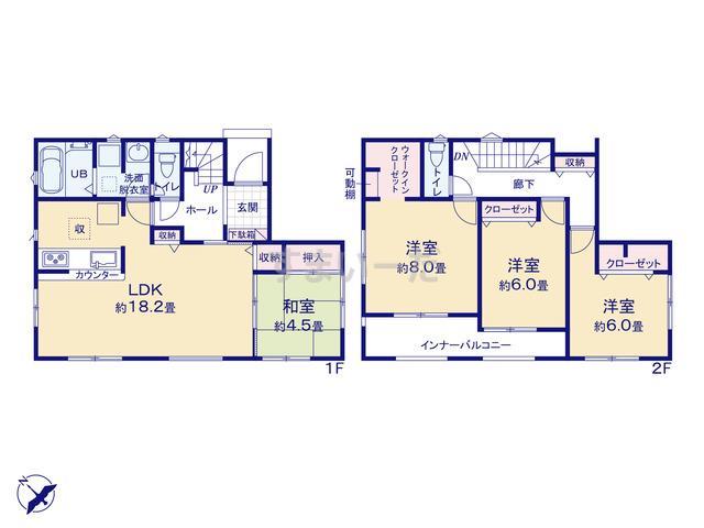 リナージュ 松伏町田中20-1期の見取り図