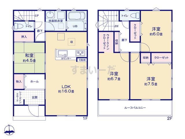 リナージュ 三原市和田20-2期の見取り図