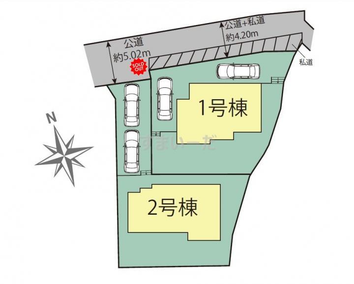 ブルーミングガーデン 福岡市南区柏原1丁目2棟-長期優良住宅-の見取り図