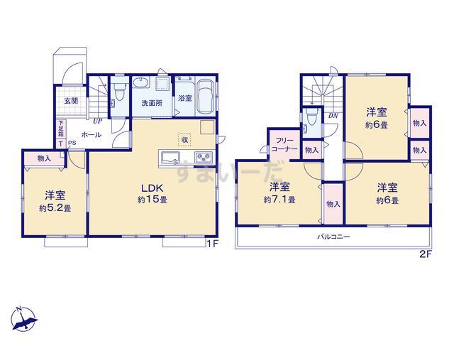 ハートフルタウン さいたま緑区三室第11期の見取り図