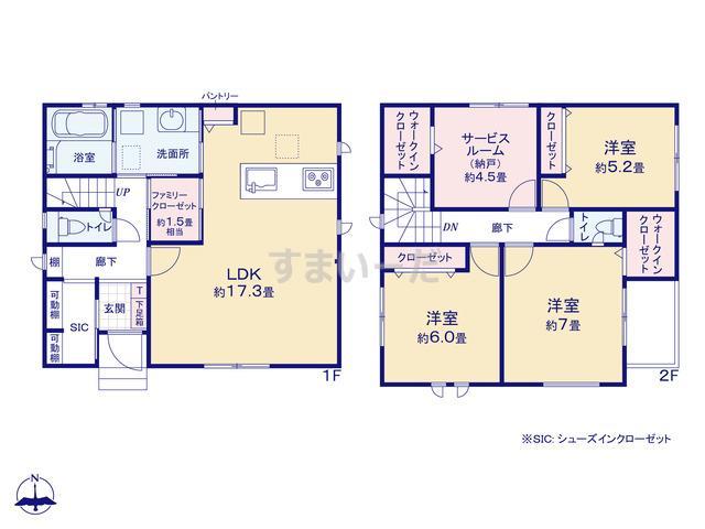 グラファーレ 名古屋市大金町1棟の見取り図