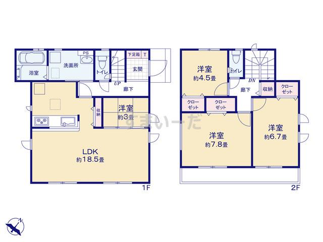 グラファーレ 広島市三入5棟の見取り図