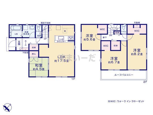 リナージュ 三原市和田20-1期の見取り図