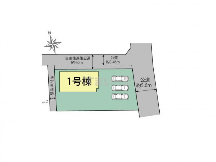 ブルーミングガーデン 浜松市浜北区高薗1棟の見取り図