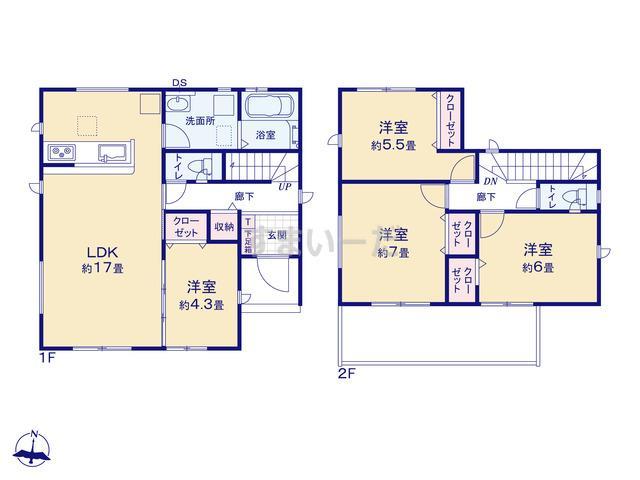 グラファーレ 名古屋市西川町1棟の見取り図