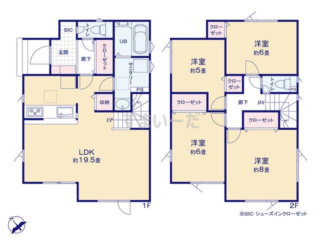グラファーレ 札幌市新発寒3期3棟の見取り図