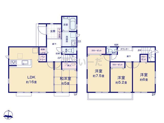グラファーレ 横浜市相沢4期1棟の見取り図