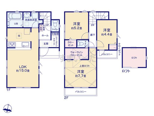 リナージュ 練馬区石神井台20-5期の見取り図