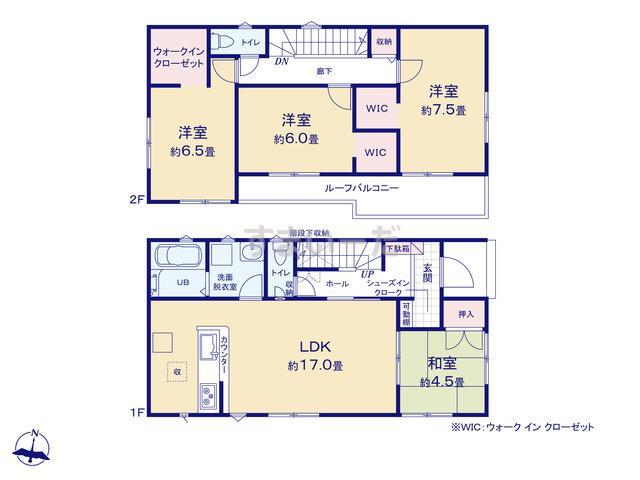 リナージュ 伊勢崎市豊城町21-1期の見取り図