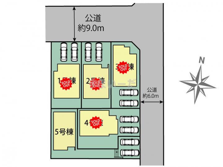 ブルーミングガーデン 名古屋市守山区上志段味3期5棟-長期優良住宅-の見取り図