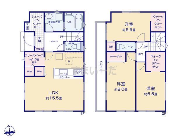リナージュ 浜松市東区笠井町20-2期の見取り図