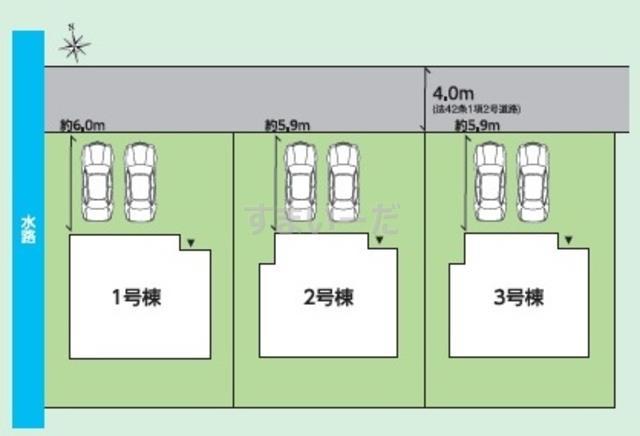 グラファーレ 会津若松市古川町3棟の見取り図