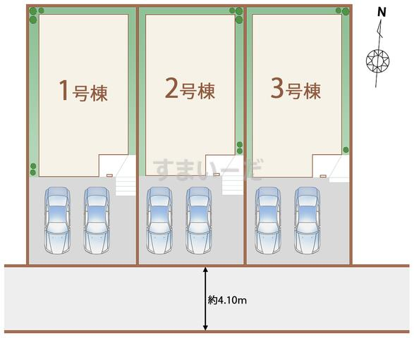 ハートフルタウン 仙台旭ヶ丘14期の見取り図