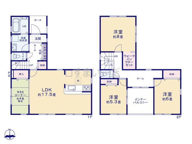 リーブルガーデン 姫路市広畑区才2期の見取り図