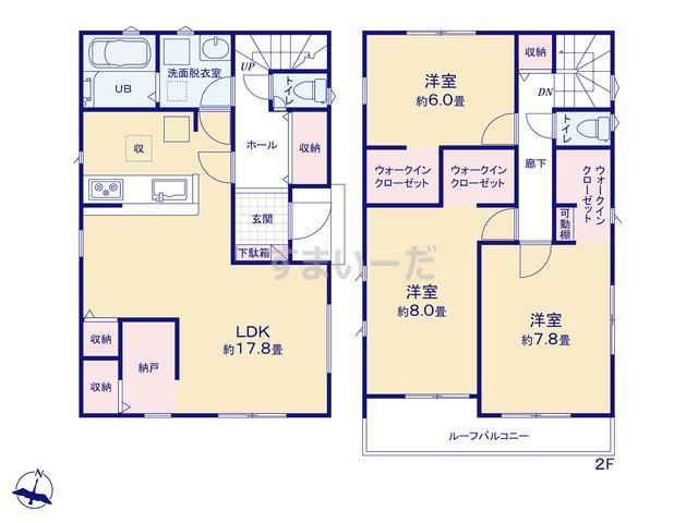 リナージュ 大井町金子20-2期の見取り図