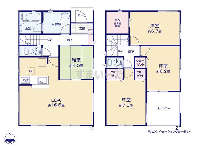 クレイドルガーデン 名古屋市中村区八社 第3の見取り図