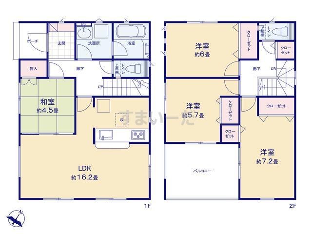 クレイドルガーデン 新潟市秋葉区新金沢町 第1の見取り図