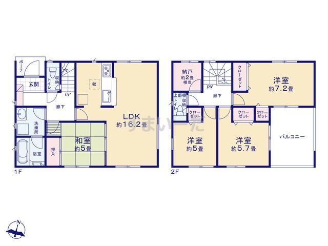 クレイドルガーデン 浜松市東区安新町 第2の見取り図