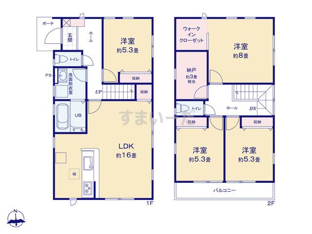 リーブルガーデン 青葉桜ケ丘6丁目2期の見取り図