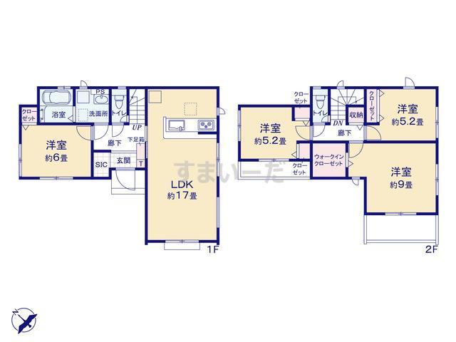 グラファーレ 清瀬市下宿2期3棟の見取り図