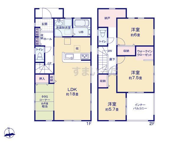 リーブルガーデン 中川区新家第二の見取り図
