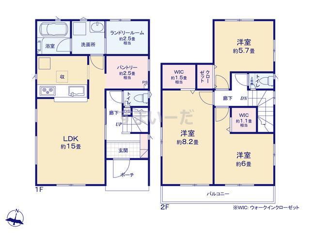 クレイドルガーデン 金沢市土清水 第1の見取り図