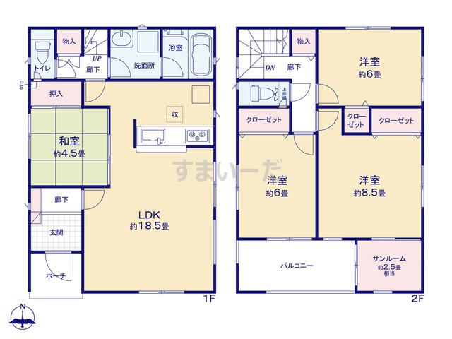クレイドルガーデン 金沢市押野 第2の見取り図