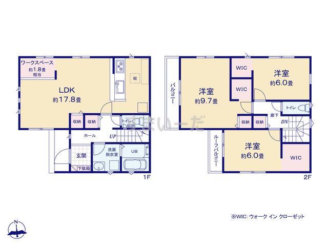リナージュ 静岡市葵区平和21-1期の見取り図