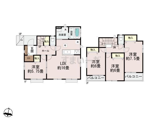 ハートフルタウン 宮崎市東宮1期の見取り図