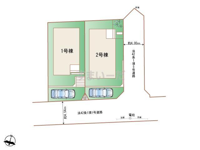 ハートフルタウン 世田谷区岡本1丁目の見取り図