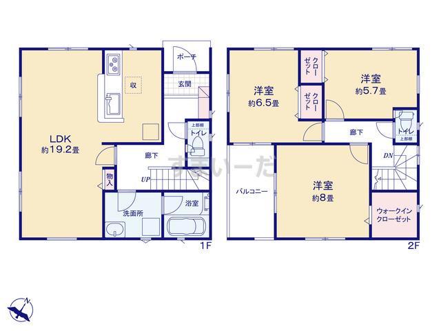 クレイドルガーデン 静岡市駿河区西島 第6の見取り図
