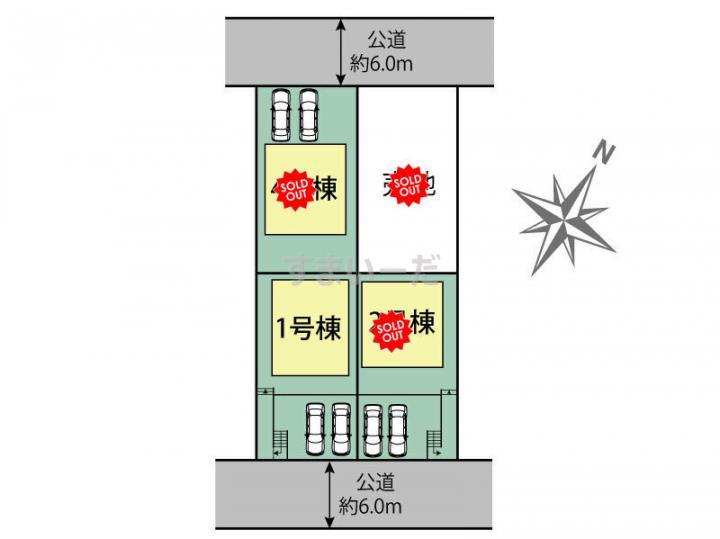 ブルーミングガーデン 相模原市南区相武台2丁目4棟の見取り図