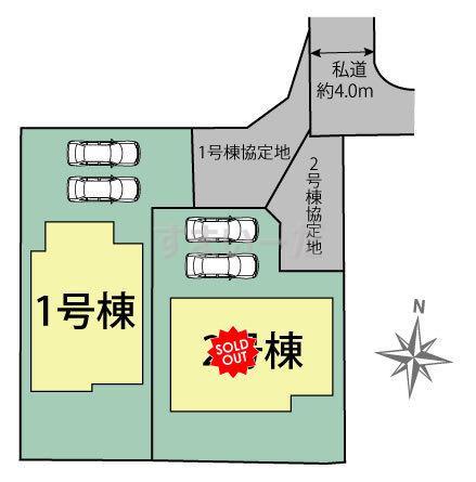 ブルーミングガーデン 熊本市北区池田3丁目の見取り図