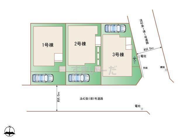 ハートフルタウン 相模原市緑区西橋本2丁目600番の見取り図