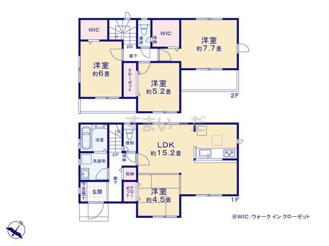 グラファーレ 神戸市篠原伯母野山町8棟の見取り図