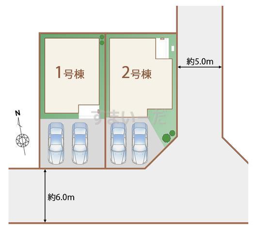 ハートフルタウン 読谷村高志保の見取り図