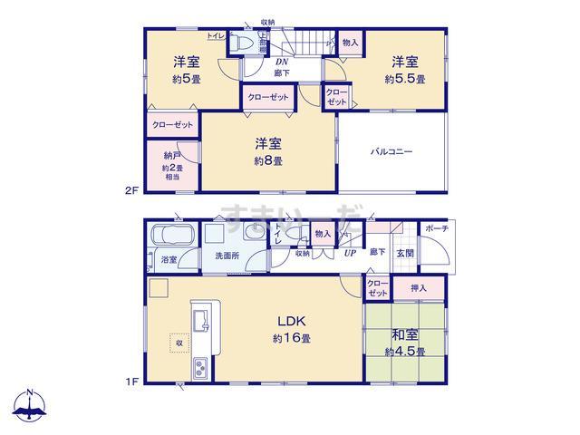 クレイドルガーデン 熊本市南区城南町下宮地 第2の見取り図