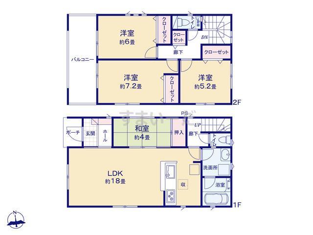 クレイドルガーデン 福岡市東区香住ヶ丘 第5の見取り図