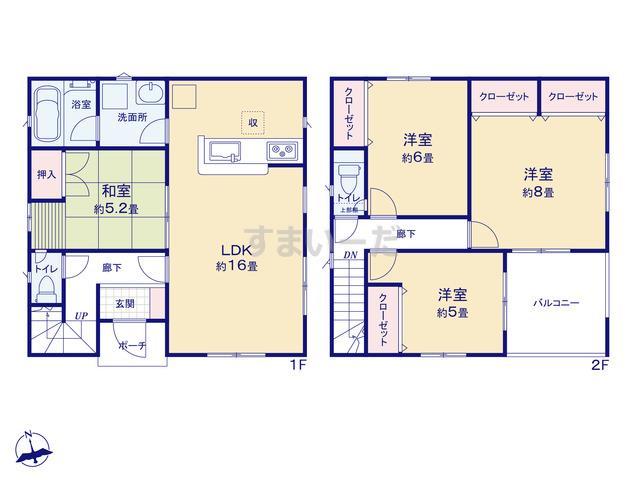 クレイドルガーデン 銚子市東芝町 第1の見取り図